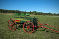 You will find antique wagons and carriages placed around the Vinson Farm.